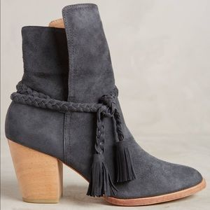 $325 Anthropologie huma blanco braided suede boots